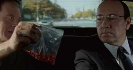 "Attorney David Boies (Begley) invites Ron Klain (Spacey) to eat ""the red ones"" for breakfast."