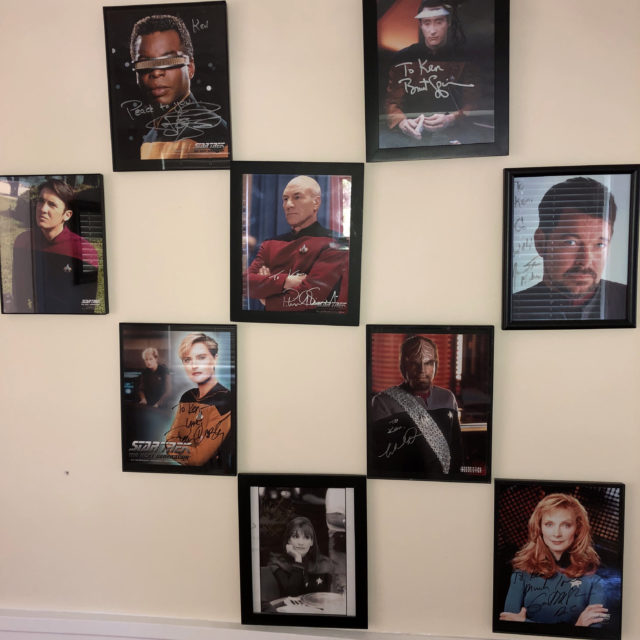 All TNG autographed headshots together