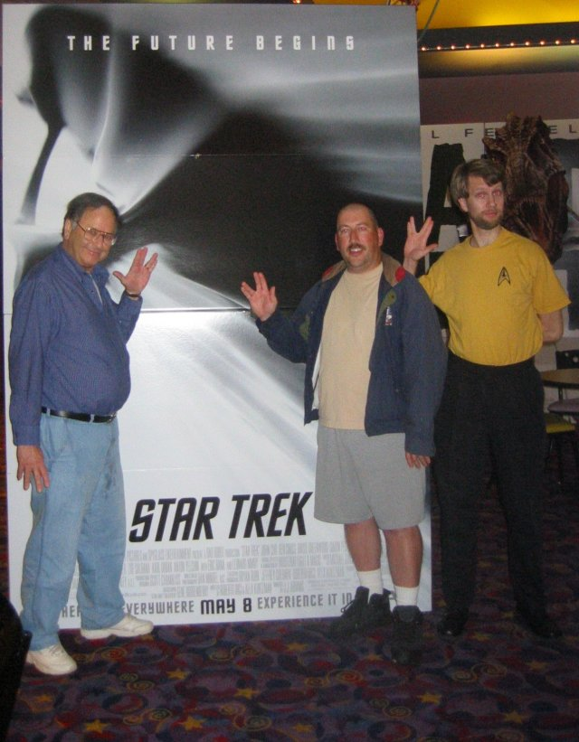 At the opening of Star Trek (2009)